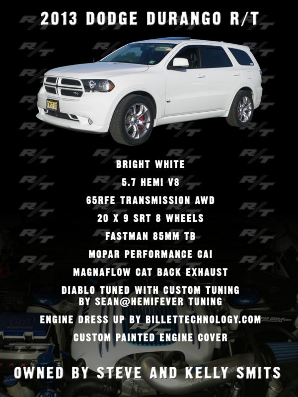2013 Dodge Durango Car Show Board