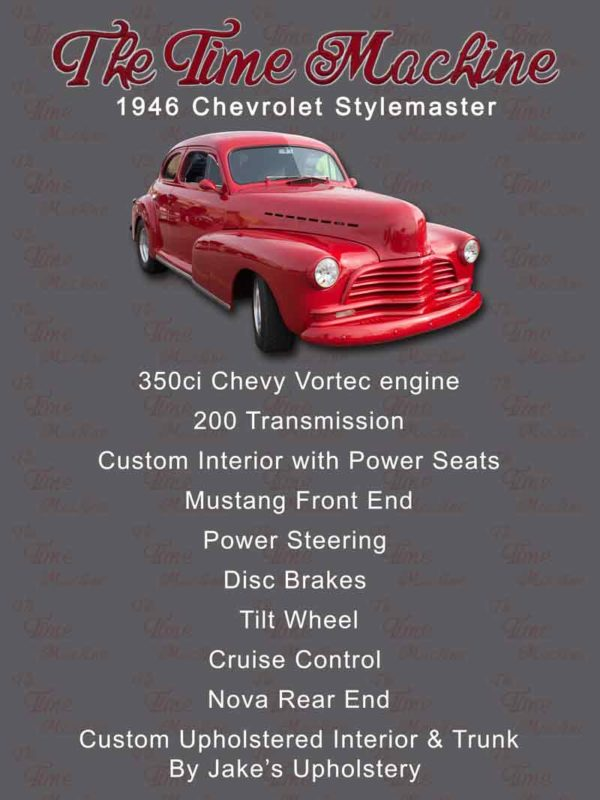 Chevrolet Stylemaster Car Show Board