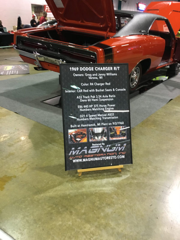 1970 Charger Car Show Display Sign