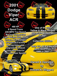 2001 Dodge Viper ACR Show Car Board