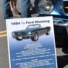 Mustang Car Show Board